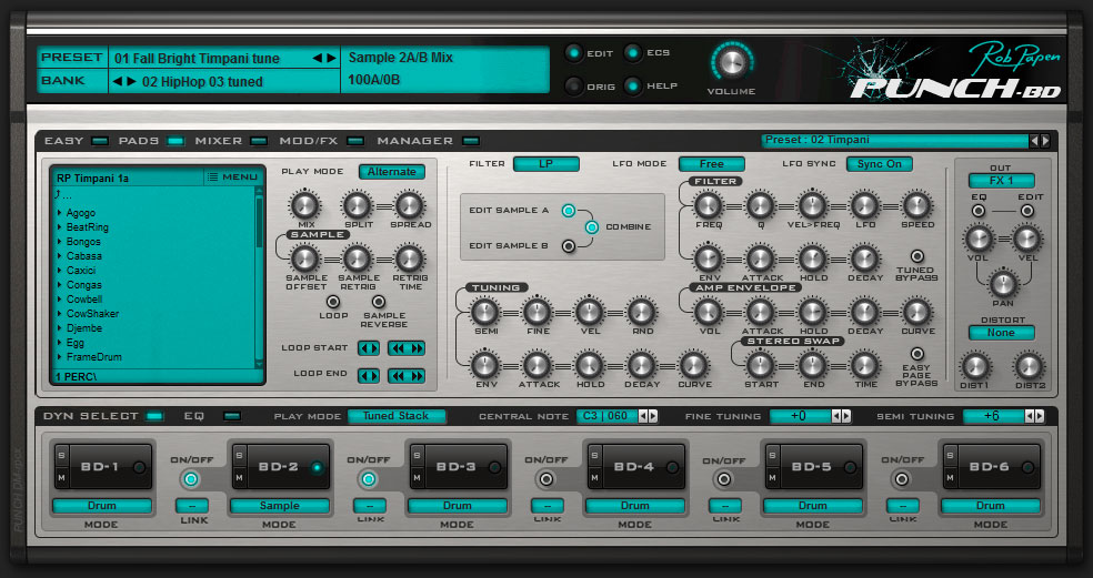 Rob Papen Punch-BD Plug-In Packs Powerful Kicks