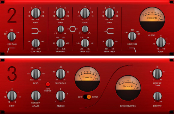 Focusrite Red 2 and Red 3