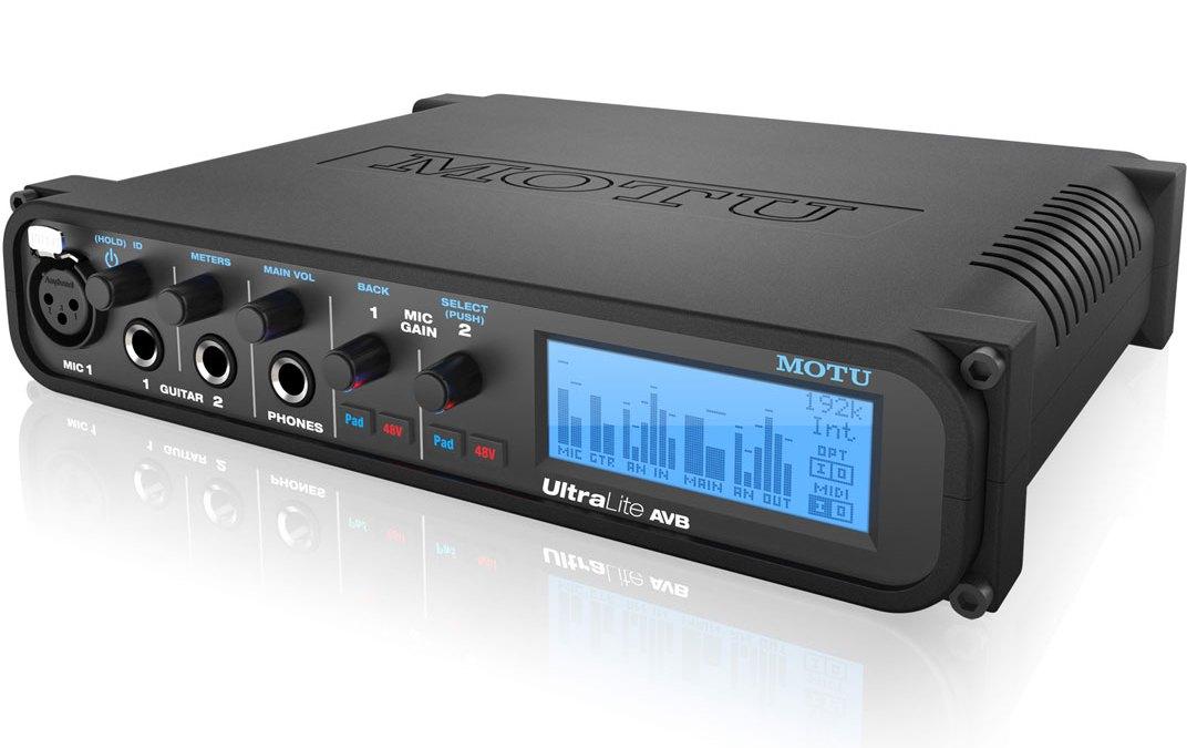 MOTU UltraLite AVB Audio & MIDI Interface Powers Up