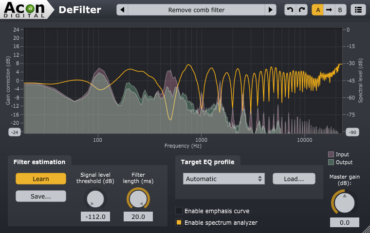 Acon Digital Debuts DeFilter Restorative EQ