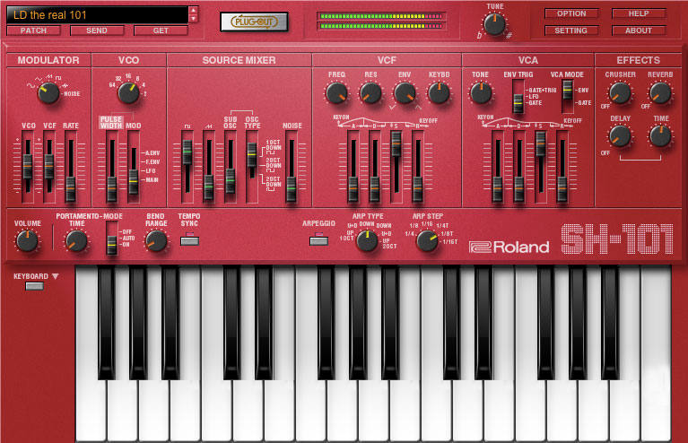 Roland SH-101 Plug-Out Is Now an AU & VST Plug-In