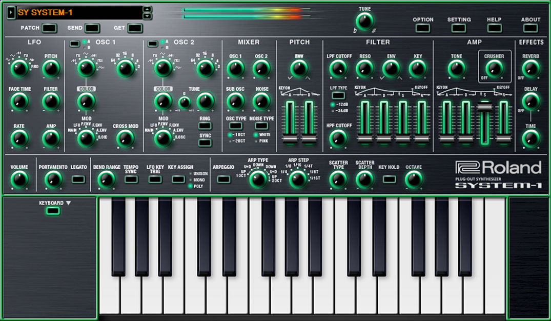 Roland Debuts System-1 Software Synthesizer Plug-In