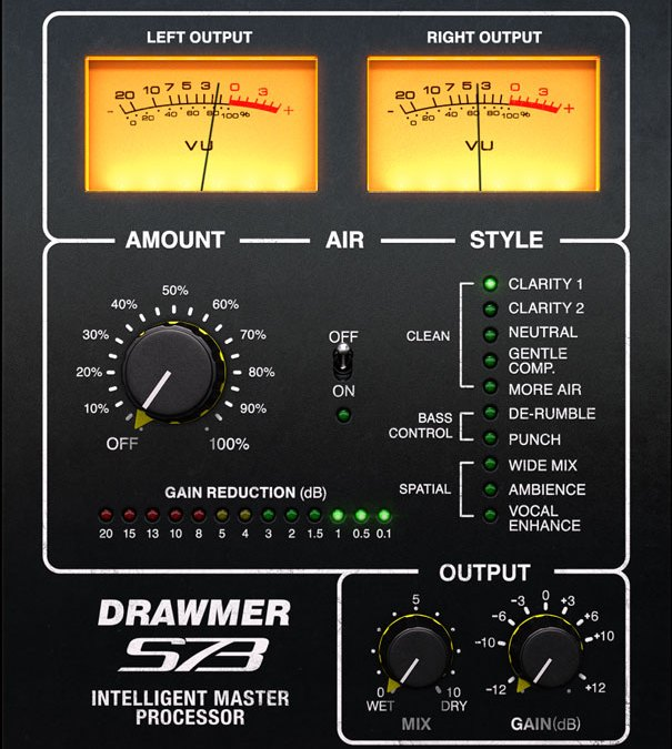 Softube releases Drawmer S73 Intelligent Mastering Processor