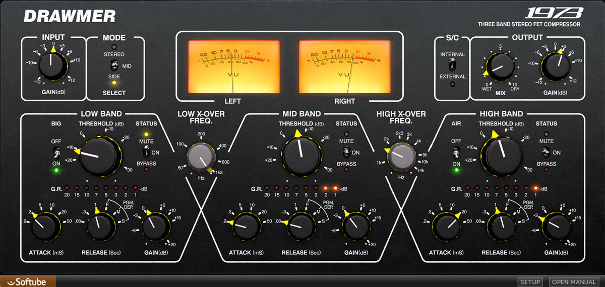 Softube Drawmer 1973 multi-band compressor out now