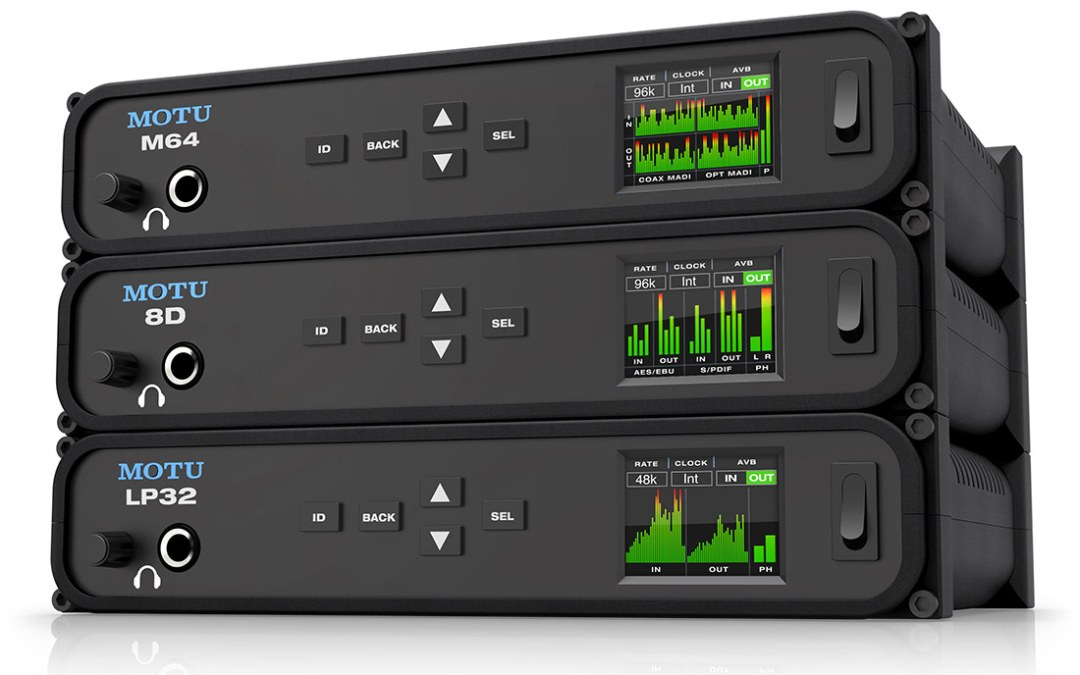 MOTU announces three new USB/AVB audio interfaces
