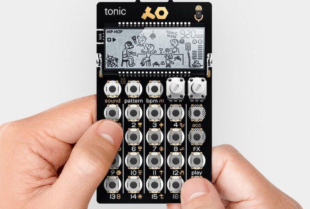 Teenage Engineering PO-32 Tonic handheld talks to Microtonic plugin