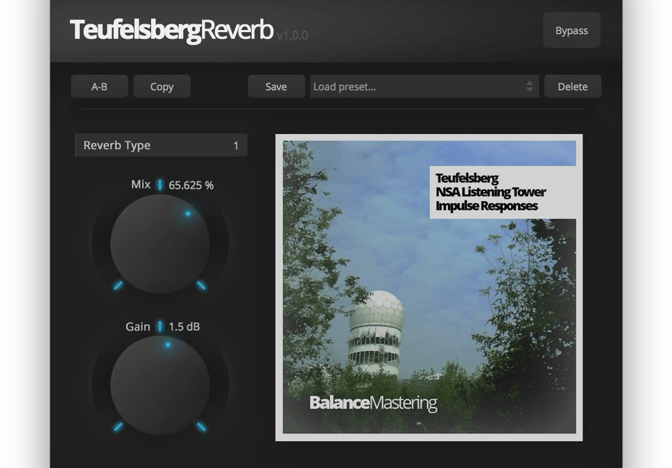 Balance Mastering sneaks free Teufelsberg Reverb into your plugins