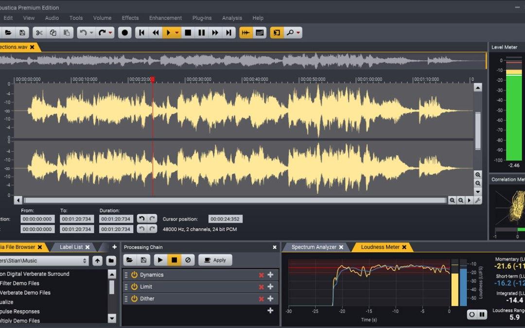 Acon Digital releases Acoustica 7 audio editor