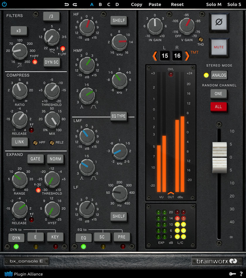 Brainworx debuts 72-channel bx_console E plugin