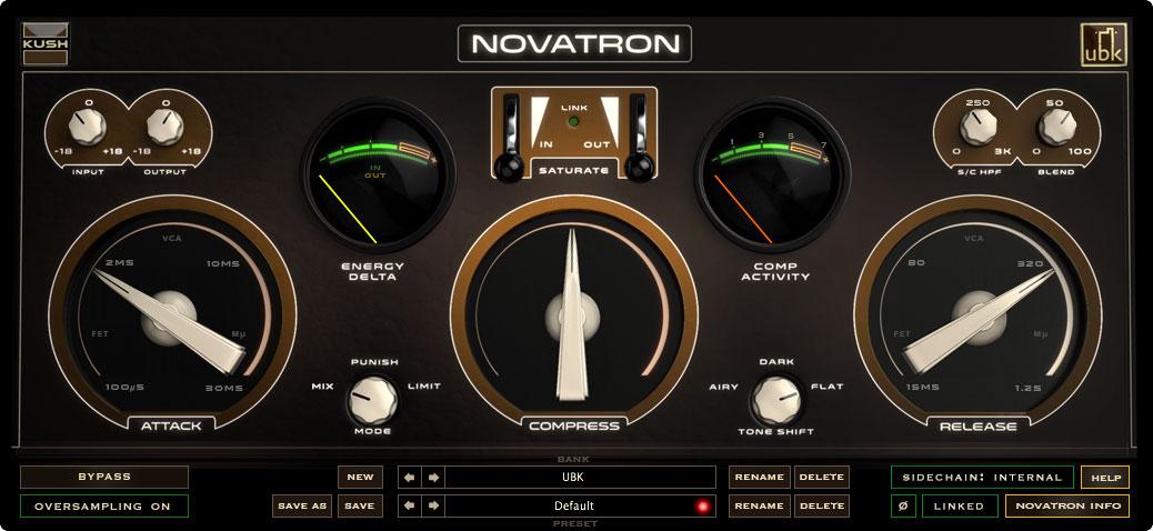 Kush Audio Novatron compressor plugin evokes classic hardware