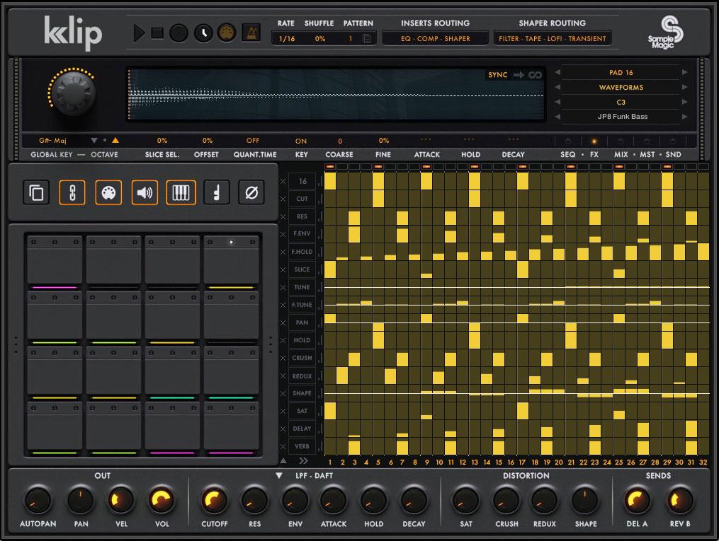 sample magic intros klip parameter sequencing drum machine macos audio. Black Bedroom Furniture Sets. Home Design Ideas