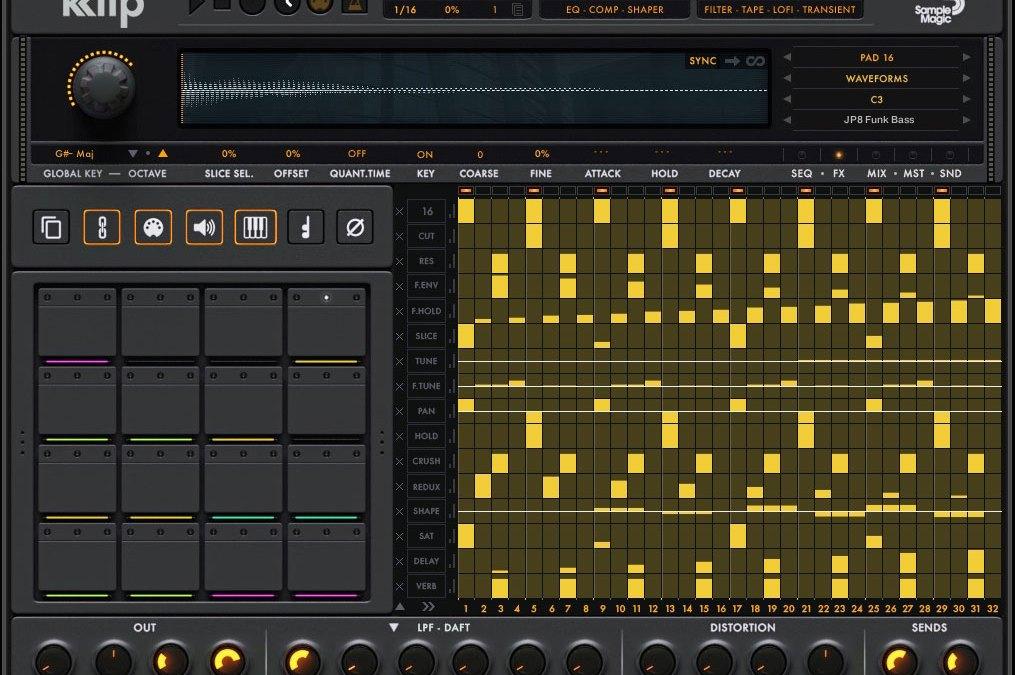 Sample Magic intros Klip parameter sequencing drum machine