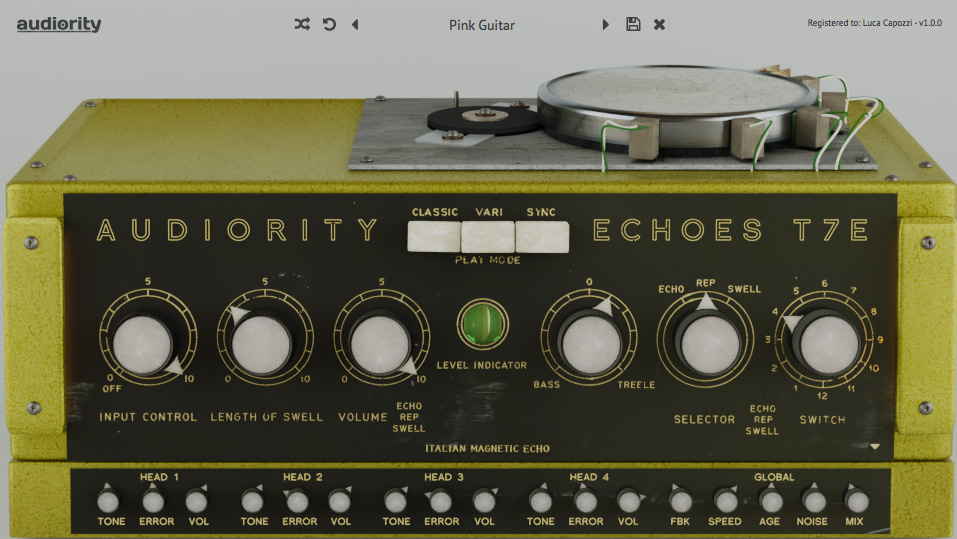 Audiority intros Echoes T7E all tube Italian magnetic echo