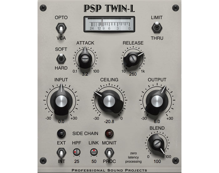 Tweak peaks with new PSP Twin-L dual algorithm classic limiter