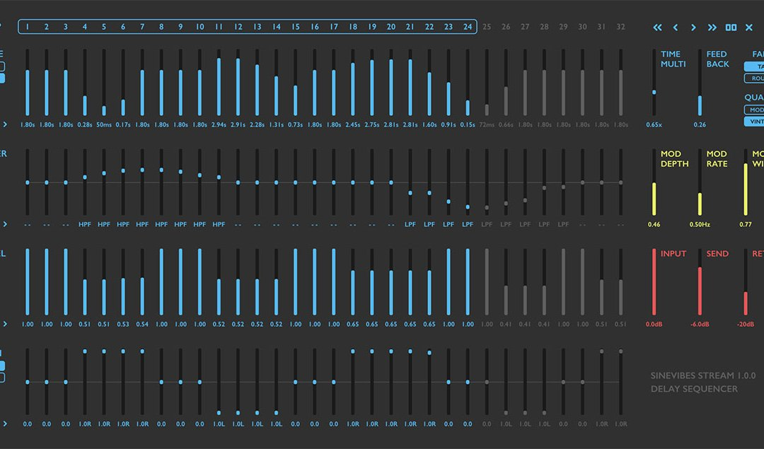 Sinevibes releases Stream delay sequencer plugin