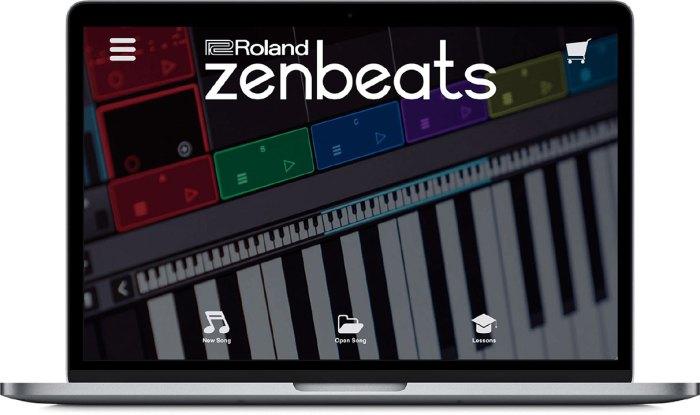 Roland Zenbeats on MacBook Pro