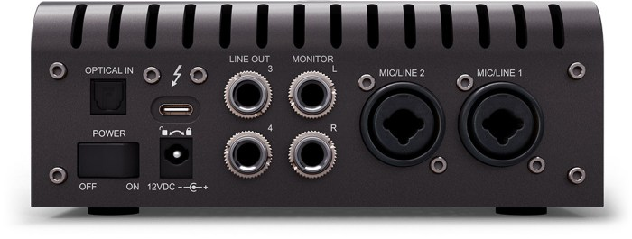 Universal Audio Apollo Twin X - rear ports