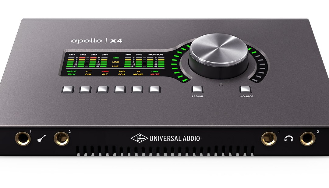 Universal Audio releases new Apollo x4 Thunderbolt 3 interface