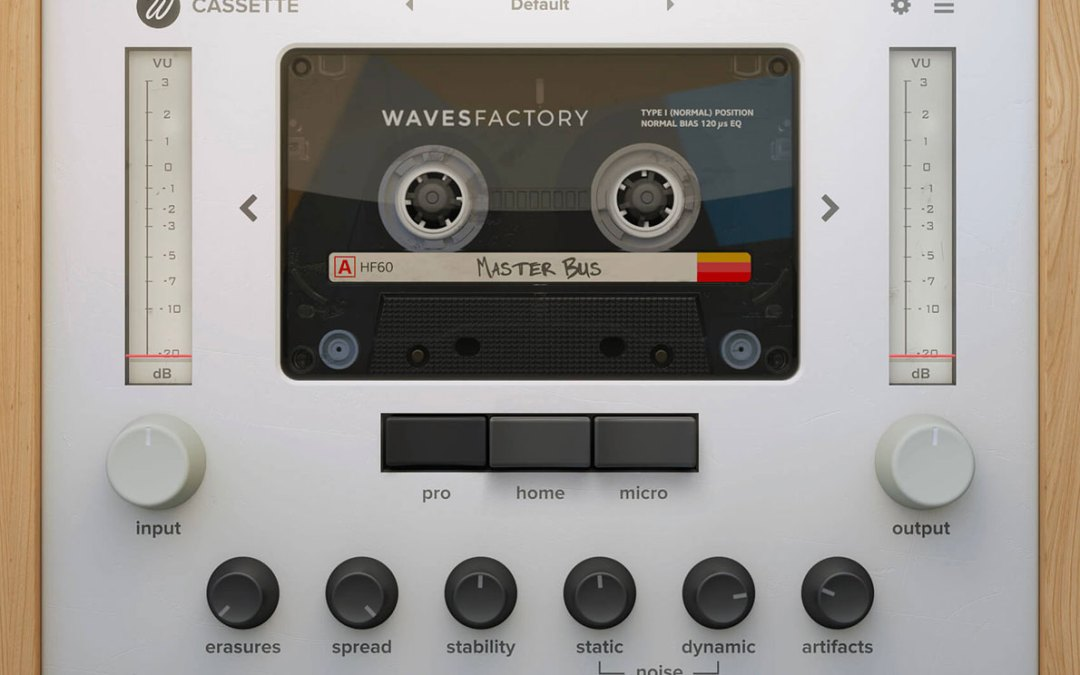 Wavesfactory releases Cassette tape emulation plugin