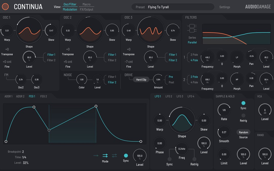 Audio Damage releases Continua morphing synth