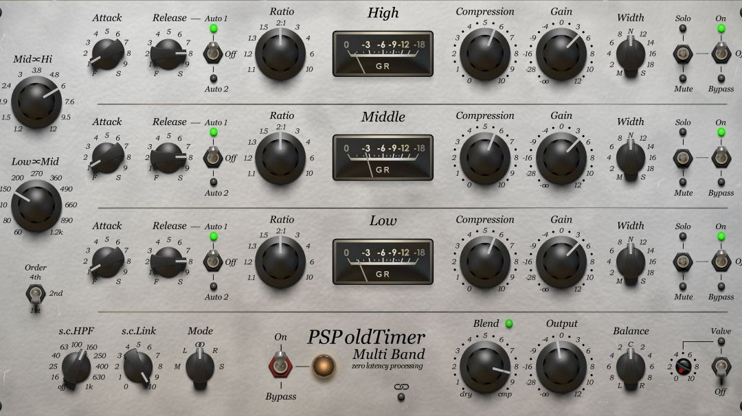 PSP launches oldTimerMB multi-band compressor