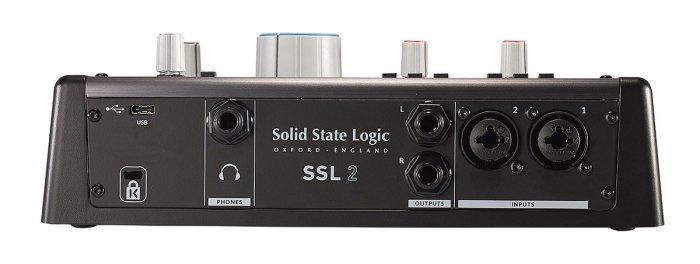 Solid State Logic SSL 2 Rear Ports