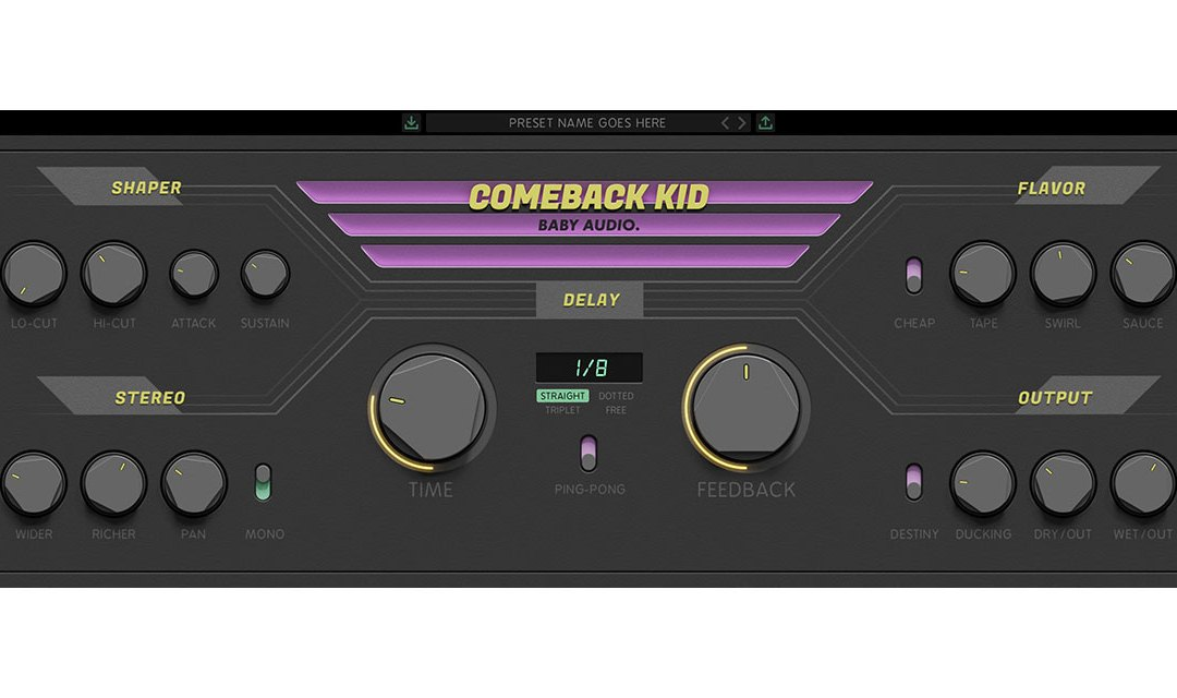 Baby Audio reveals Comeback Kid delay with analog flavor