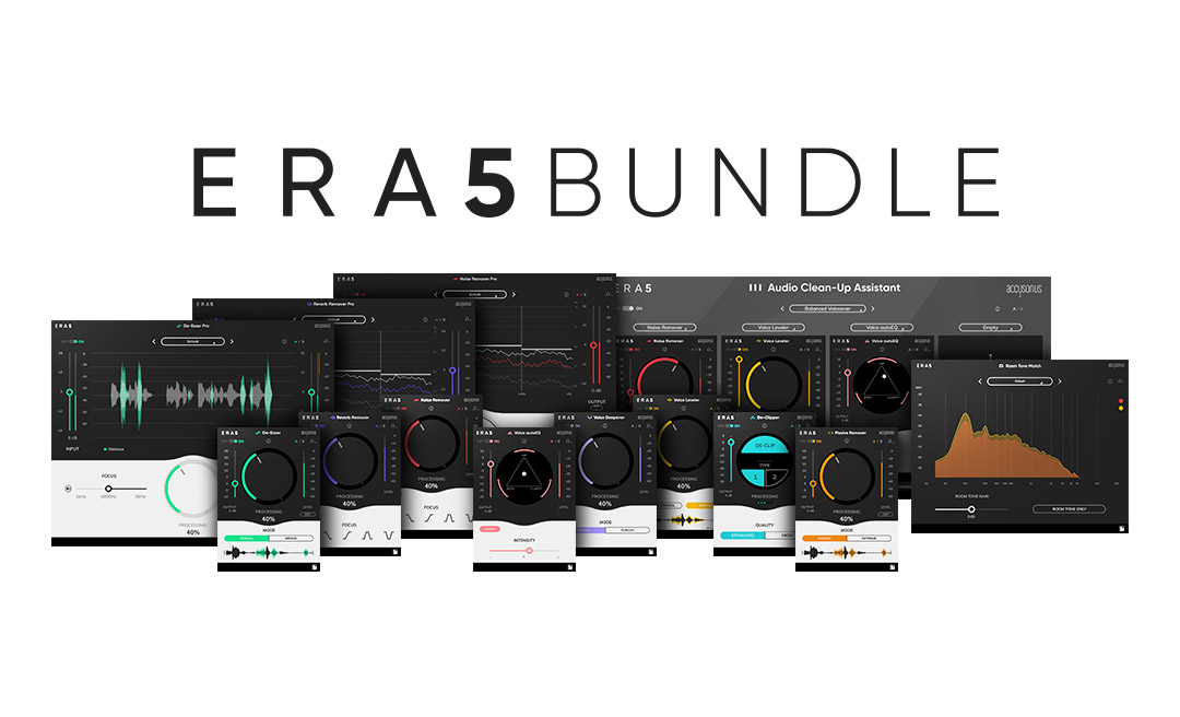 Accusonus introduces ERA 5 suite and SFX Cellar sound library