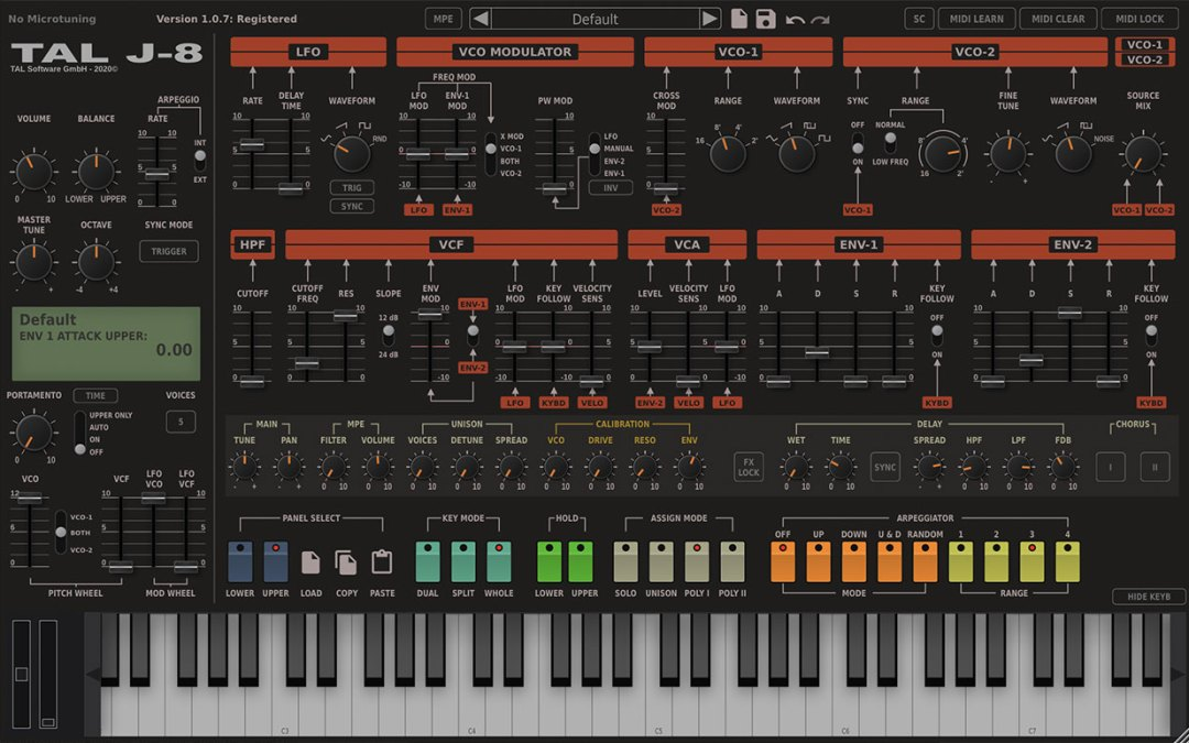 New TAL-J-8 Jupiter 8 emulation plugin is M1 ready
