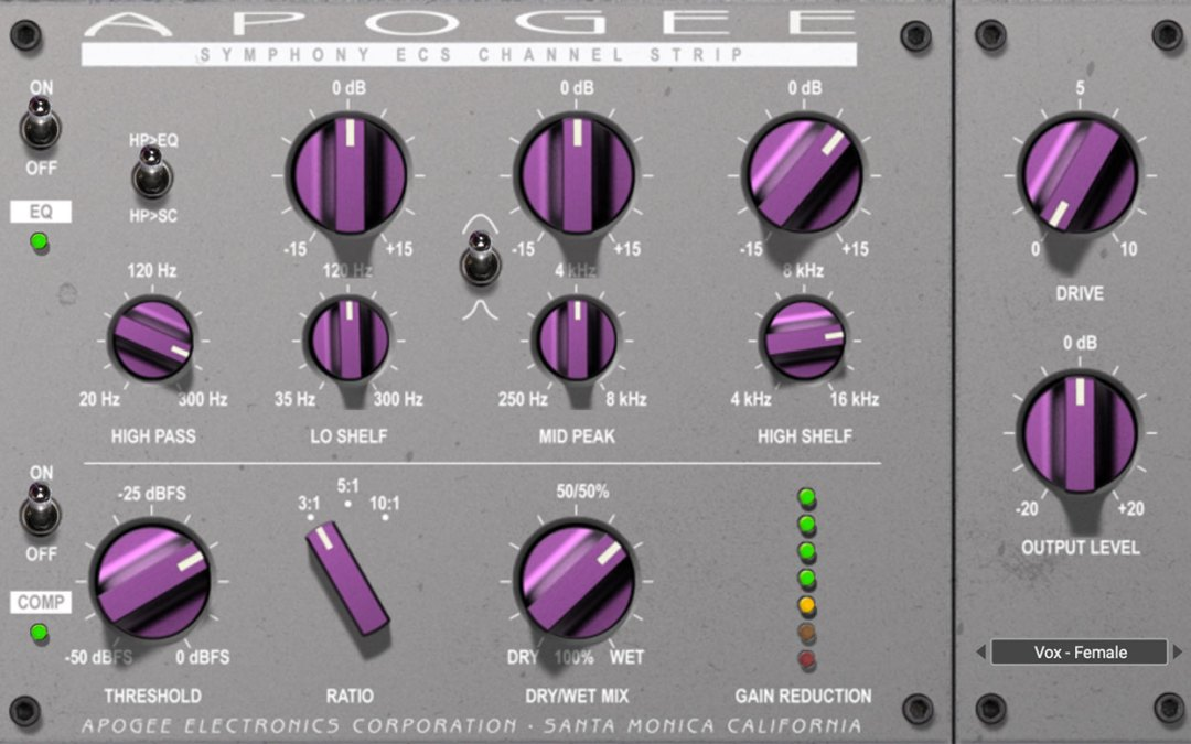 Apogee Symphony ECS Channel Strip goes native