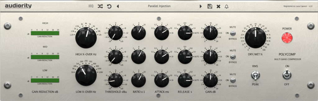 Audiority presents PolyComp multi-band mastering compressor