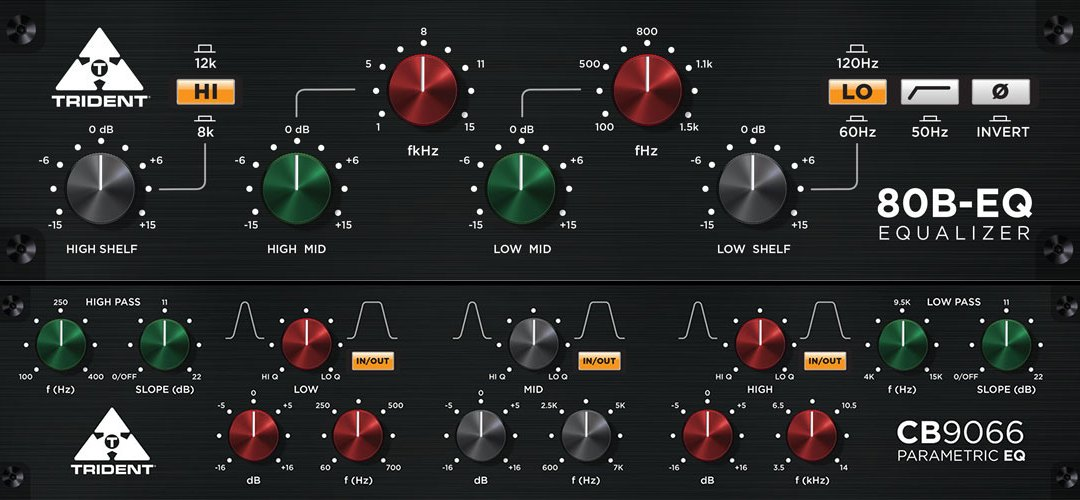 Trident Audio debuts all-new 80B-EQ and CB9066 Parametric EQ