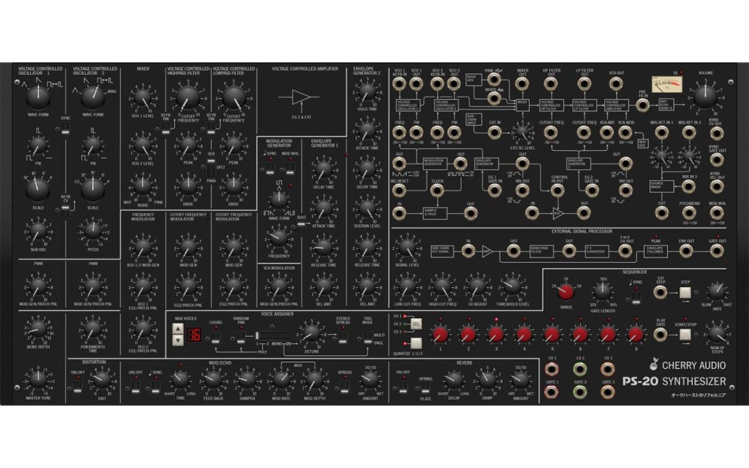 Cherry Audio racks up PS-20 poly synth plugin