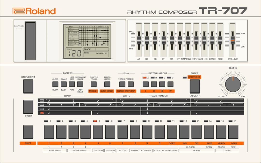 Roland brings TR-707 & TR-727 to Roland Cloud