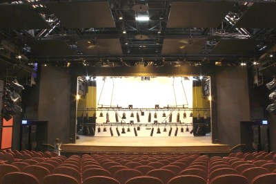 The auditorium has now restored with modern stage lighting facilities and motorised lifting machineries.