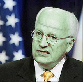 Doctored photo of Dick Cheney
