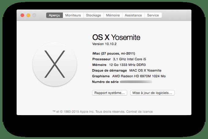 Mac OS X Yosemite 10.10.2 update