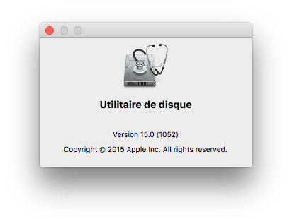 Utilitaire de disque El Capitan 15.0