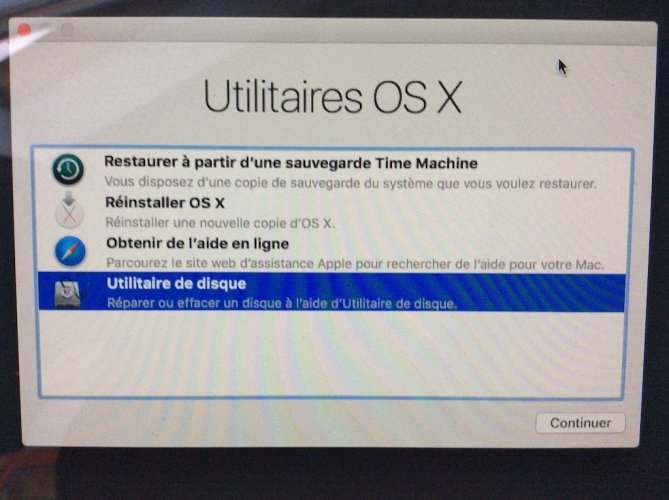 Formater son Mac utilitaire de disque