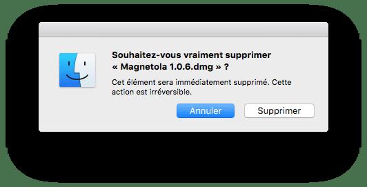 supprimer un fichier sur mac sans corbeille