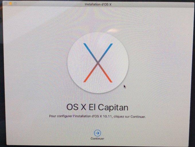 reinstaller mac os x configurer installation