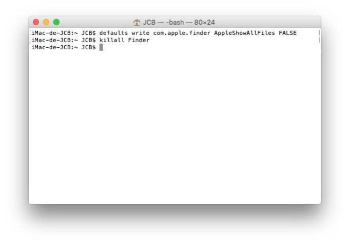 Afficher les fichiers caches Mac masquer
