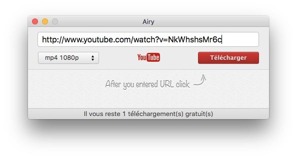 enregistrer youtube sur mac coller url
