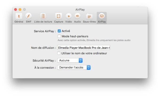 lecteur multimedia pour mac airplay