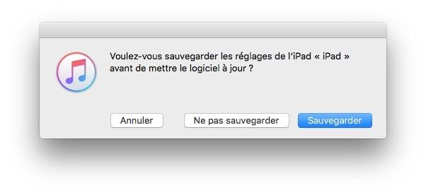 iOS 9.3.2 sauvegarder et telecharger