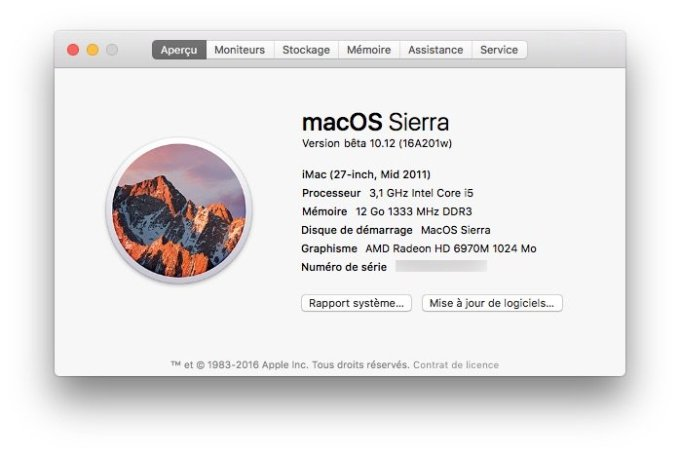 Outil de nettoyage MacOS Sierra lancer