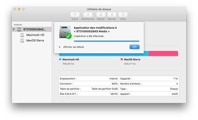 installer macos sierra beta formater partition