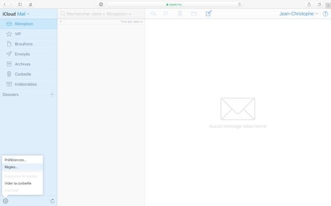 Gerer les spams sur iPhone avec icloud regles filtrage