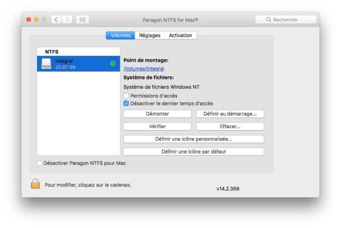Formater en NTFS sur macOS Sierra formataga complet