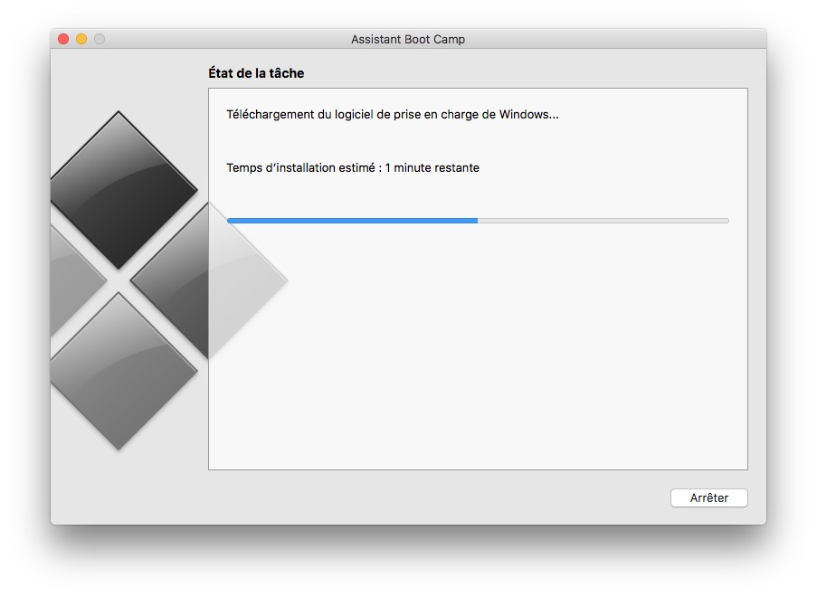 dual boot macOS Sierra Windows 10 telechargement logiciel prise en charge